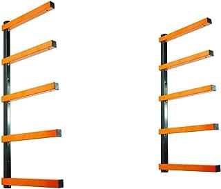 KASTFORCE KF1005 Lumber Storage Rack 5-Level System 110lbs per Level Lumber Rack Wood Rack Workshop Rack with Durable Sheet Metal Screws