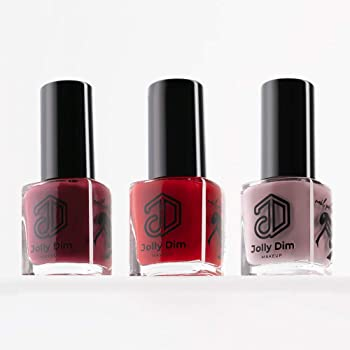 Jolly Dim Makeup - Set de esmalte de uñas Casual (pack de 3). Esmalte de uñas Carmine 5 + Esmalte de uñas Pink Lavender 7 + Esmalte de uñas Burgundy 4: Amazon.es: Belleza