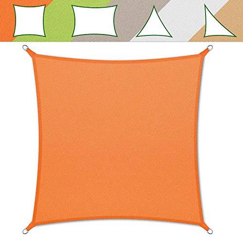 casa pura® Sonnensegel wasserabweisend imprägniert | Testnote 1.4 | quadratisch, 3x3m | UV Schutz | viele Farben (orange)