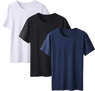 Ancdream 3-Pack Women Girls Healty Cotton Short Sleeve Crew T-Shirt