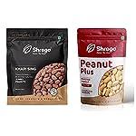 SHREGO KHARI SING Traditionally Roasted Salted Jumbo Peanuts + Peanut Plus Roasted Peanut Salted, SNACKS & NAMKEEN,