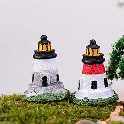 WND Mini Multi Fenster Leuchtturm Modell Garten Miniatur Topfpflanzen Dekoration