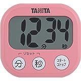 タニタ キッチン タイマー マグネット付き 大画面 100分 ピンク TD-384 PK でか見えタイマー