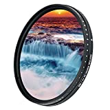 JJC 58mm ND Filter ND2-2000 VND Variable Neutral Density Adjustable Fader for Canon EOS Rebel T7 T6 T8i T7i T6i T6s T5i SL3 90D 80D with EF-S 18-55mm Kit Lens & Other Lenses with 58mm Filter Thread