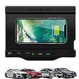 Paobiy Cargador inalámbrico para coche compatible con Mercedes Benz Clase A, Clase B, AMG/GLB 2019-2021 panel de accesorios de consola central,10W carga rápida teléfono cargador, para iPhone y Samsung