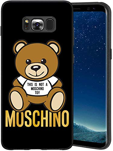 EpbyM This Is Not A Moschimo Toy Moschimo Logo Samsung Galaxy S8 Custodia, Nero Custodia Cover Slim Anti Scivolo Custodia Protezione Posteriore Cover Antiurto per Samsung Galaxy S8, 5.8""