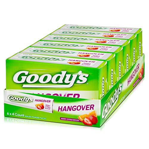Goody's Hangover Powders, Fast Pain Relief, 4 Powders, Pack of 6