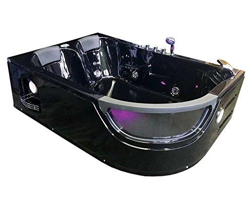 Bañera hidromasaje PEGASO Bañera de esquina hidromasaje Nueva 180x120 Terapia luz de colores para 2