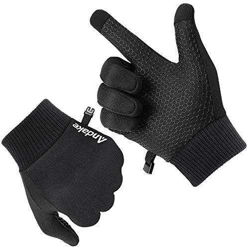 Andake Touchscreen Funktion, leicht weich dünn warm, Innenhandschuhe Fahrradhandschuhe Laufhandschuhe Fitness Winterhandschuhe Laufen Fahrrad Handschuhe Softshell Liner Damen Herren
