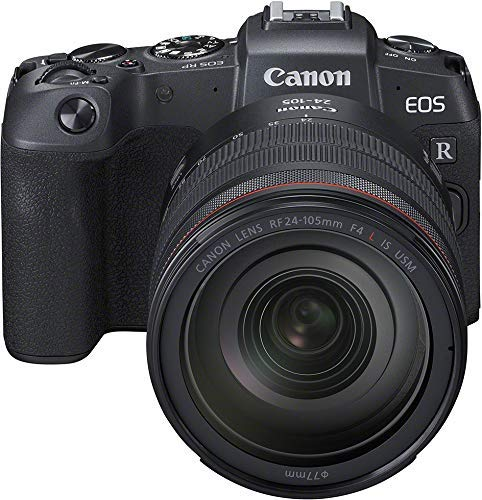 Canon EOS RP Systemkamera (26,2 MP, 7,5 cm (3 Zoll) Clear View LCD II, Digic 8, 4K Video, WLAN, Bluetooth, mit Vollformat-Sensor) Gehäuse Body mit Objektiv RF 24-105mm F4 L IS USM + Adapter EF-EOS R