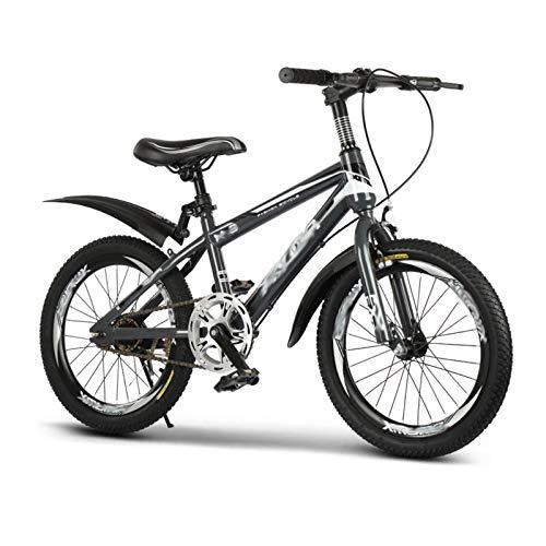 JHNEA Bicicletta per Bambini Ragazza Ragazzo 9-15 Anni Bicicletta 18 20 22 24 Pollici Bicicletta Bambini con Le Ruote Bici per Bambini,Grey Single Speed_22 inch