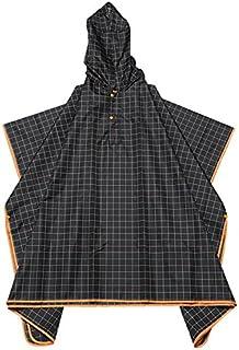 ダンケ レインケープ オレンジ グラフ プレイド 全6柄 フリーサイズ 収納袋付き DWZ0630
