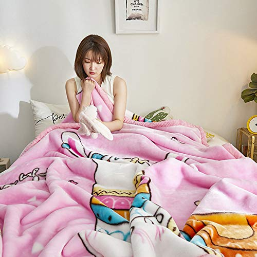 BSWL Double-Layer Thick Blankets in Autumn And Winter, Soft And Skin-Friendly, Heat Up Quickly, Nap Blankets, Air Conditioning Blankets, Sofa Blankets,6