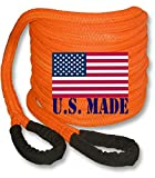 BILLET4X4 (Bigger Truck Recovery) U.S. Made 1-1/2 inch X 30 ft Safety Orange Kinetic Energy Recovery...