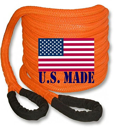 Fantastic Deal! BILLET4X4 (Bigger Truck Recovery) U.S. Made 1-1/2 inch X 30 ft Safety Orange Kinetic...