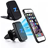 Magnetic Phone Car Mount 2in1 Design, Fits Air Vent, Windshield and Dashboard, Cell Phone Holder Compatible with All Android and Apple.