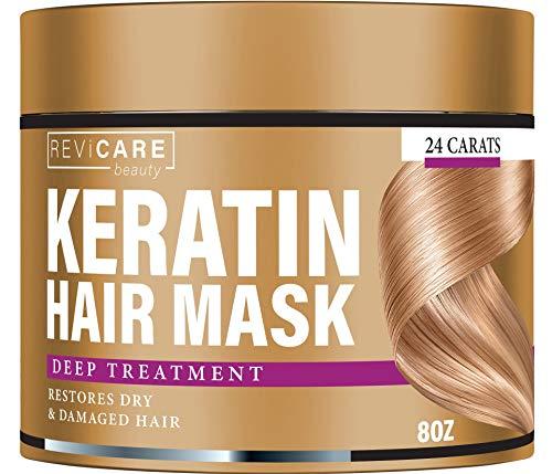 Keratin Hair Mask - Restores Dry & Damaged Hair - Effective Keratin Treatment