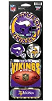 WinCraft NFL Minnesota Vikings Prismatic Stickers, Team Color, One Size