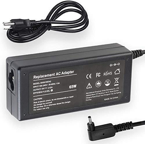 AC Adapter Charger for Acer Aspire One AO1-131M-C667, AO1-431, AO1-131M-C1T4, AO1-431-C8G8, by Galaxy Bang USA