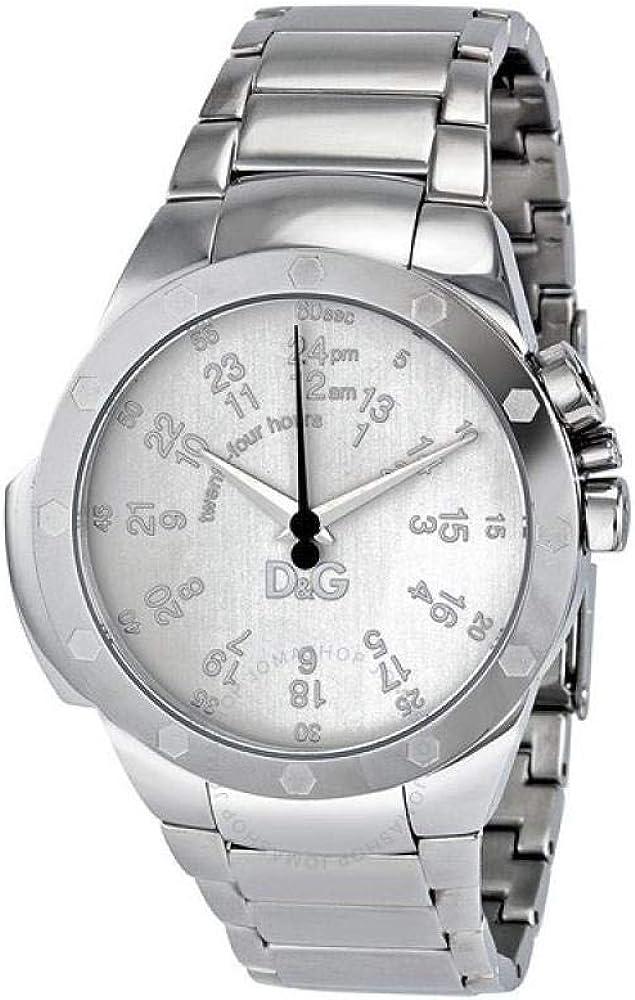 dolce & gabbana, orologio per uomo in acciaio inossidabile dw0570