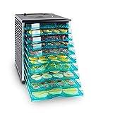 Klarstein Fruit Jerky 10 - Déshydrateur, 800W de puissance, 10 larges étages, Surface de séchage de presque 1 m², Conservant les minéraux et vitamines, Noir