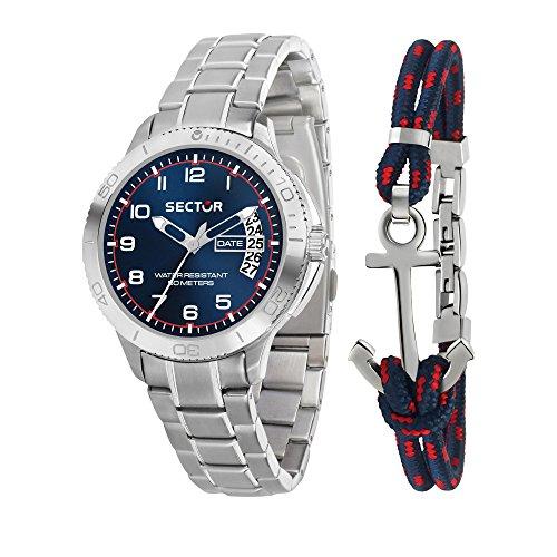 Sector No Limits Herren Analog Quartz Uhr mit Stainless Steel Armband R3253578010