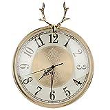 nannday orologio da parete con testa di cervo, elegante orologio da parete a batteria silenzioso decorativo decorativo per soggiorno camera da letto home office school