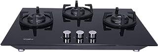 Whirlpool Hob 3 Burner Auto Ignition Gas Stove (Elite Hybrid HD 703 Brass Gas Hob)