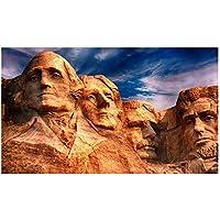 絵画 ラシュモア山のポスターとプリントのキャンバス絵画アメリカ大統領国立記念風景画アート写真デコラティン23.6x47.2in(60x120cm)x1pcsフレームなし