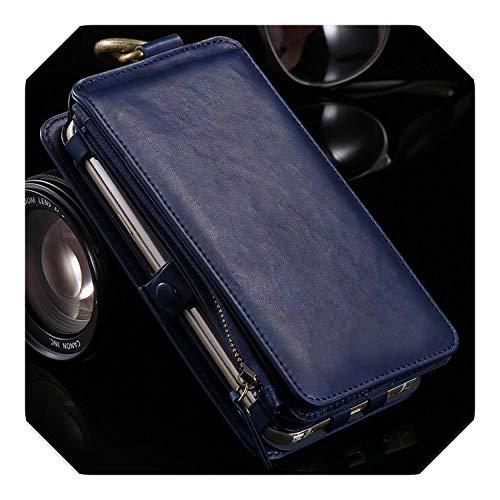 Funda de piel tipo cartera para Samsung Galaxy Note 9 8 5 S10E S10 S9 S8 Plus S7 Edge teléfono caso para iPhone 11 Pro XS Max XR 8 7 6S Plus
