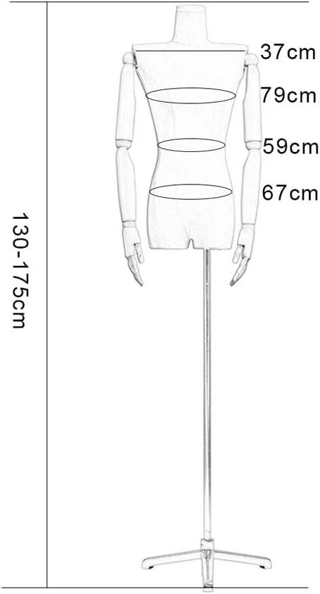 Barture Vrouwelijke Mannequin Dressmakers Dummies Mode Studenten Display Split Been Ontwerp Effen Hout Arm Flexibele Activiteiten 4 Kleuren Gebruikt Voor Kleding Sieraden Show H
