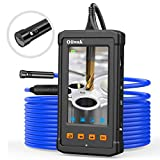 Oiiwak Inspection Camera Dual-Lens Automotive Plumbing Industrial Endoscope-Borescope with 4.3inch Screen 1080P HD Waterproof Video Snake Camera Scope with Light, 32GB Card(5m)