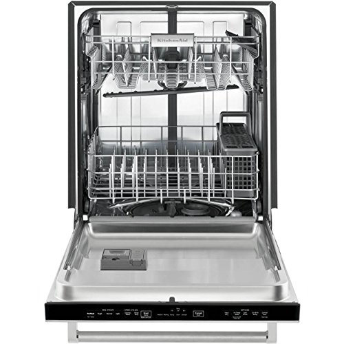 KitchenAid KDTE104ESS 46dB Stainless Dishwasher with Hidden Controls &...