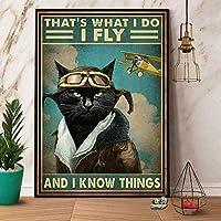 それは私が何をすべきか、私は私は飛ぶポスターガレージガレージ家族カフェの農場トイレドア壁装飾レトロ