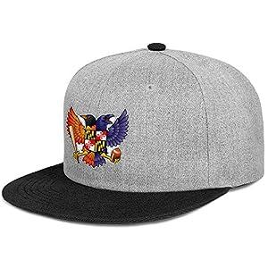 Unisex Stylish Hip Hop Baseball Cap Birdland Baltimore Raven and Oriole Maryland Adjustable Fits Snapback Hat Sport Cap