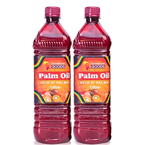 MOTHERLAND GOODS Red Palm Oil – 2 Liters of Regular Red Premium Vegetable Oil – Ultimate Organic Oil for Cooking – 2 pcs of Sustainable Palm Oil Packed with Healthy Fatty Acids, Vitamins, and Rich Taste