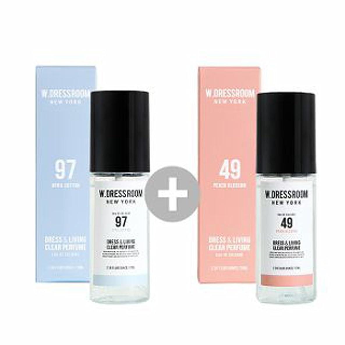 奨励します成熟した説得力のあるW.DRESSROOM Dress & Living Clear Perfume 70ml(No 97 April Cotton)+(No 49 Peach Blossom)