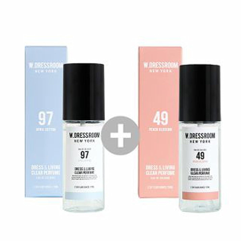 取るに足らない集まるアンティークW.DRESSROOM Dress & Living Clear Perfume 70ml(No 97 April Cotton)+(No 49 Peach Blossom)