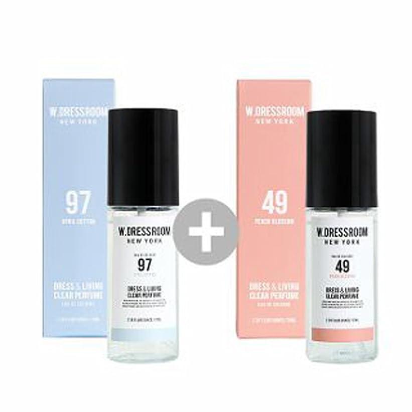 レザー混乱させるウェイターW.DRESSROOM Dress & Living Clear Perfume 70ml(No 97 April Cotton)+(No 49 Peach Blossom)