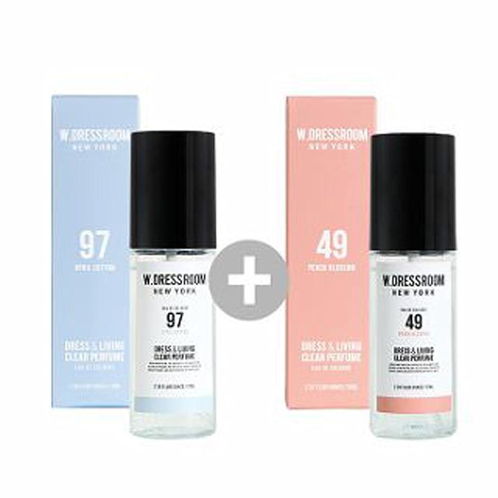 グラフィックやめる蒸W.DRESSROOM Dress & Living Clear Perfume 70ml(No 97 April Cotton)+(No 49 Peach Blossom)