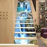 BLOUR PVC Tapete Wasserfall Grafiken, einfache 13 Stück DIY Treppenaufkleber, Stufenaufkleber, Wandaufkleber - 6