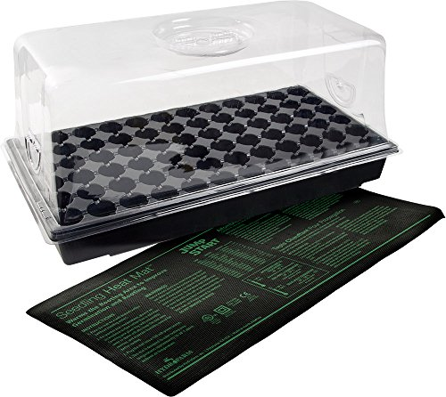 Jump Start CK64060 Heat Mat, Tray, 72 Cell Insert Hot House, Black