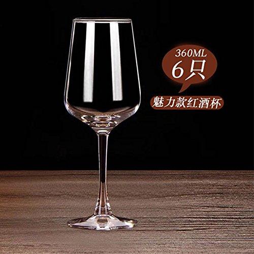 JARONG Gobelet en Cristal De Vin De Raisin Tasse Tasse 6 Meilix,Pcs6
