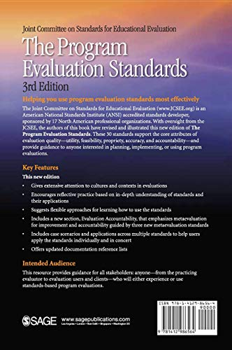 51m3tRkUvxL - The Program Evaluation Standards: A Guide for Evaluators and Evaluation Users (Joint Committee on Standards for Educational Evaluation)