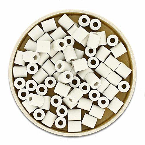 EM-Keramik Graue Pipes 100g + Infobroschüre über Anwendung von EM-Keramik - Wasserenergetisierung frisches & weiches Wasser - Zeckenschutz (Material für z.B. Zeckenhalsbänder) durch Milieuveränderung von Effektive Mikroorganismen