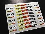 Ecoshirt MG-1YYU-PHG5 Stickers Kit Mavic SLR Wheels Eco41 27,5 BTT Cycle MTB Bike Stickers Autocollants Autocollants