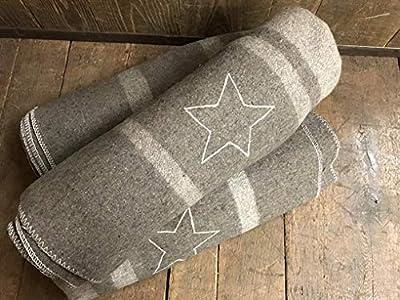 swiss link Italian Officer Heavyweight Reproduction Blanket W/Star