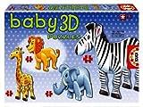 Educa Borrás Baby Puzzle 3D Animales Salvajes
