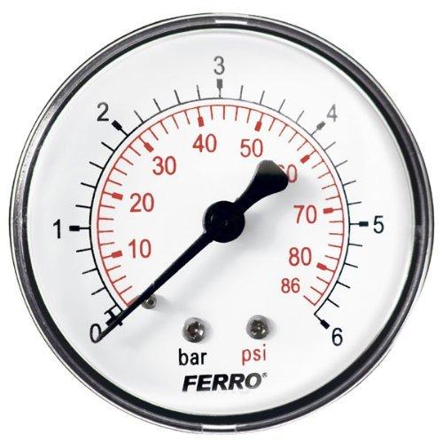 60mm 6bar 86psi Luftdruckmesser Öl oder Wasser 1/4