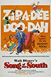 Walt Disney's Song of The South 1972 Vintage Movie Poster